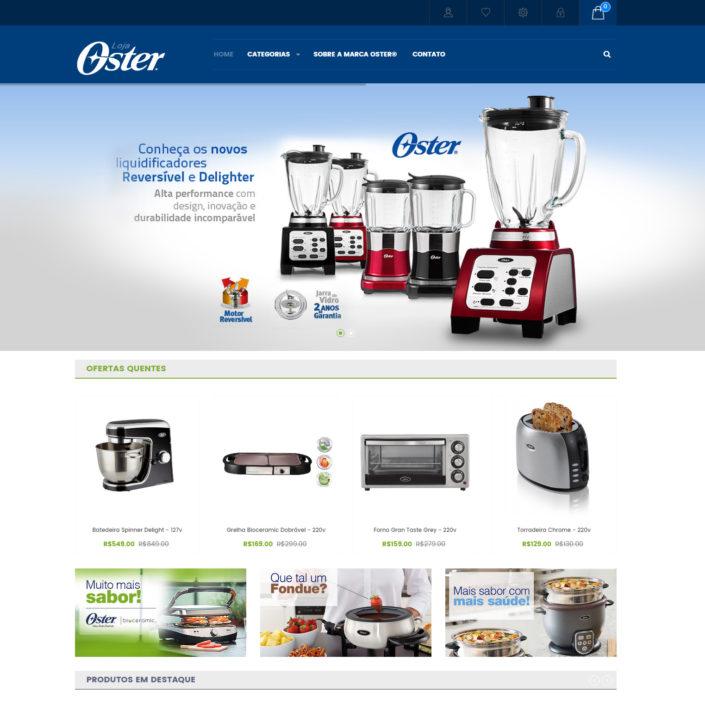 Ecommerce para a empresa Oster do Brasil